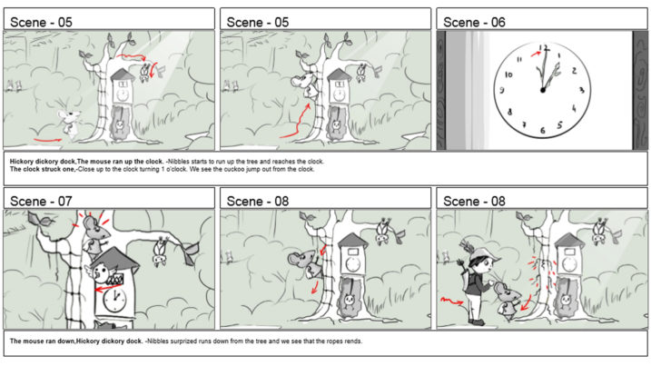 Picture of Hickory Dickory Dock Storyboard