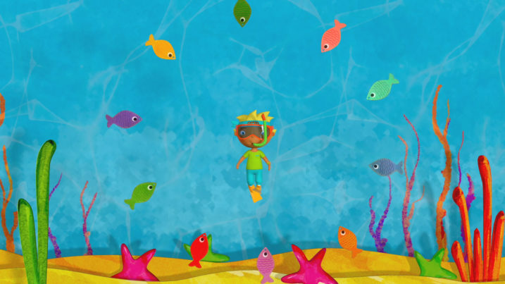 Picture of Otto swimming with the fishes