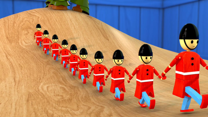 Picture of The Grand Old Duke of York marching his troops up the hill