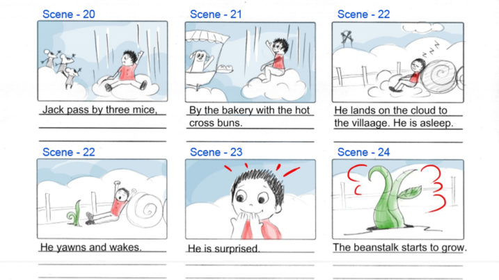Picture of Jack Be Nimble Story Board